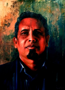 """Poet Sayeed Abubakar Media: Oil on canvas Size: 18""""/24"""""""