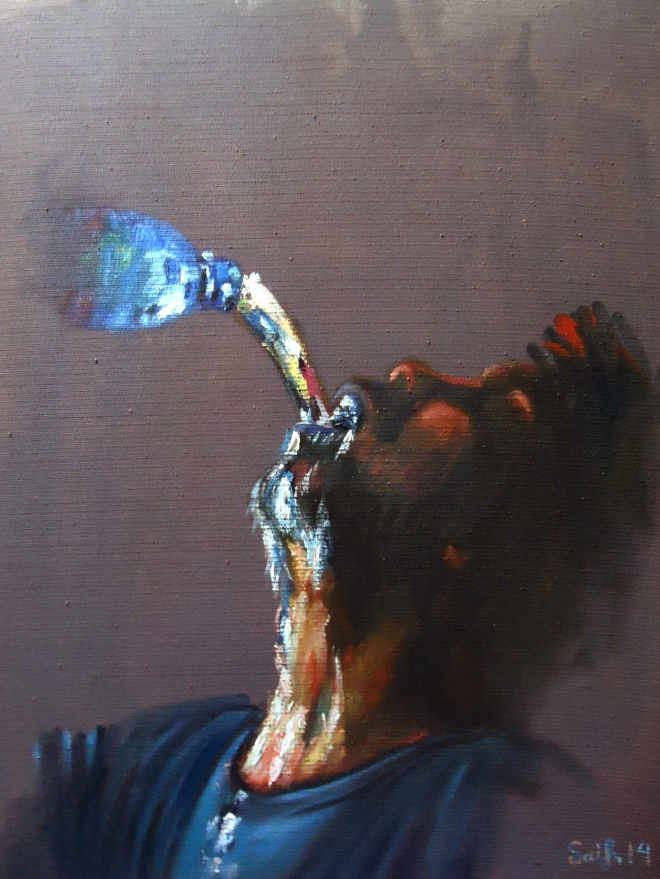 "Title: Thirst Media: Oil on Canvas Size: 20""/24"""
